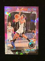 SSP 2019-20 Hoops Premium Stock Keldon Johnson PURPLE CRACKED ICE SSP RC #/25