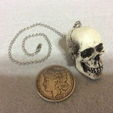 1 Skull fan light pull chain punk goth Made USA Skeleton #32-FP
