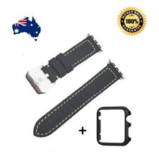 Genuine Leather Wrist Band Strap For Apple Watch iWatch 3 2 1 38mm 42mm + Case