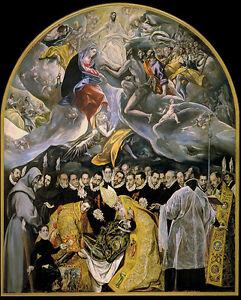El Greco - Entierro del Conde de Orgaz Vintage Fine Art Print
