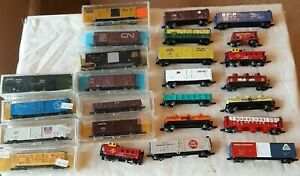 Lot Of 25 N Scale Freight Cars. All nice shape no box or not the correct box