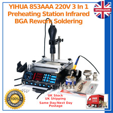 YIHUA 853AAA 220V 3 In 1 Preheating Station Infrared BGA Rework Soldering