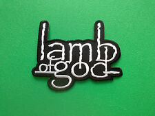 HEAVY METAL PUNK ROCK MUSIC FESTIVAL SEW ON / IRON ON PATCH:- LAMB OF GOD BLACK