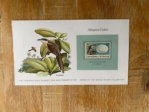 ST VINCENT GRENADINES 1978 CARD MNH WORLD BIRDS & EGGS MANGROVE CUCKOO