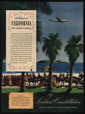 1946 LOCKHEED Constellation Airplane - California Spanish Days - VINTAGE AD