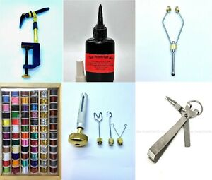 Fly Tying, Fly Fishing Materials and Tools, Multiple Items, uv Glue, Threads