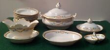 ANTIQUE GERMAN DOLL DISHES - TUREEN PLATTERS GRAVY TIDBIT SOUP BOWLS PLATES