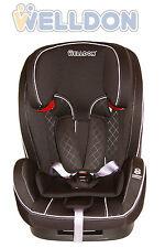 Welldon Autokindersitz 9-36 kg Gruppe 1 2 3 Schwarz Royal Baby Kindersitz