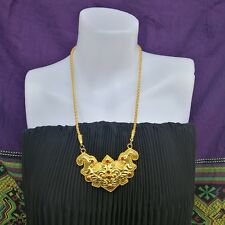 Thai Traditional Gold Plated Necklace Dance Jewelry Ram Thai Wedding Costume