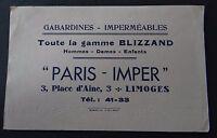 Buvard PARIS IMPER gamme Blizzand gabardine Limoges Blotter Löscher