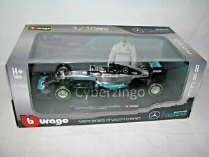 Mercedes F1 W07 Hybrid AMG Petronas Hamilton Bburago 1:18 Model Car PREOWNED