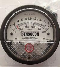 Sensocon Pressure Gauge 0-500PA/0-2 In w.c. alternative to Dwyer Magnehelic