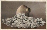 Silver Coins Spanish Dollars & Jug Found New Windsor NY Detroit Publishing