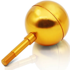 """Anley Authentic 3"""" Flagpole Ball Topper Ornament - Gold Anodized Aluminum Finish"""