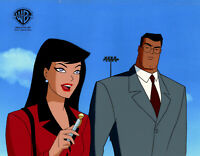 Warner Brothers Animated Series Production Cel Superman/Lois-World's Finest Pt 1