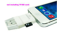 Latest USB i-Flash Drive TF SD Card Reader for iPhone 5 5S 5C 6 6S 6 plus IOS 9