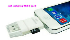 3 in 1 USB i-Flash Drive TF Micro SD SD Card Reader for iPhone 7 7 plus IOS 10