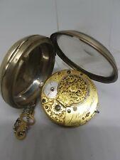 Antique fusee verge Josiah Bartholomew London pocket watch c1840 Working ref1209