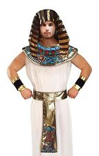 Adult Mens Egyptian Pharaoh King Fancy Dress Costume Set Collar Belt Headpiece