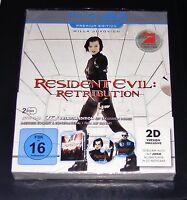 RESIDENT EVIL RETRIBUTION PREMIUM EDITION BLU RAY 3D + BONUS DISC NEU & OVP