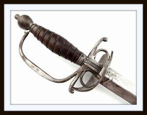 ANTIQUE AMERICAN REVOLUTION ENGLISH OFFICER'S RAPIER SWORD ~ STRONG COMBAT BLADE