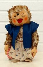 "ANTIQUE Vintage 10"" HEDGEHOG Plush Felt GERMAN Stuffed Animal Toy SCHUCO STEIFF"