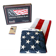 Annin Flagmakers Model 2460 American Flag 3x5 ft. Nylon SolarGuard Nyl-Glo , ...