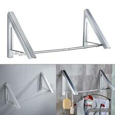 Wall Mount Foldable Clothes Hanger Garment Rail Dryer Rack Closet Storage 2 Sets