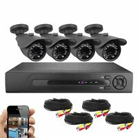 Best Vision Security Surveillance System 8 CH HD 1080N DVR + 4 X 720P Cameras IR