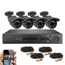 Best Vision 8 CH HD DVR Security Camera System 4x720P IR Bullet Cameras with HDD