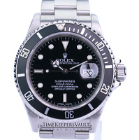 Authentic Rolex Submariner Stainless Steel 40mm Black Dial Black Insert