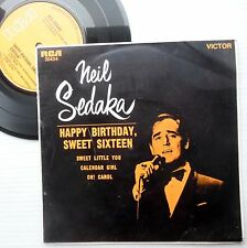 NEIL SEDAKA Australia PS 45 HAPPY BIRTHDAY SWEET 16 4-song EP Mint-Minus F614