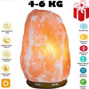 4-6 KG Natural Himalayan Salt Lamp Rock Crystal Pink Healing Ionising Lamp XMAS