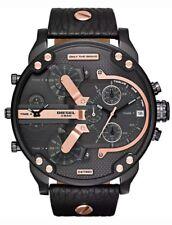 Diesel DZ7350 Mr Daddy 2.0 Herrenuhr XL Chronograph Schwarz Leder Armbanduhr