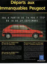 Publicité Advertising 1997  PEUGEOT 306  Equinoxe