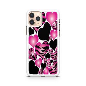 Pretty Phenomenal Pink Beautiful Black Love Hearts Pattern Phone Case Cover