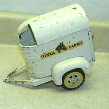 New ListingVintage Tonka Farms Horse Trailer Only, Pressed Steel Toy, Original, #1