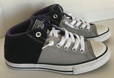 Converse Junior Size 5 All Star Street Mid-Top Gray Black Purple Textile Shoes
