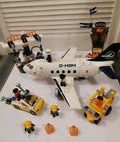 Rare Lego Duplo 7840 Airport Action Set Large Airplane+vehicles+lots of figures