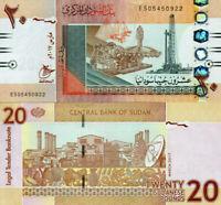Sudan 20 Pounds 2017 Pick 74  UNC-NEW