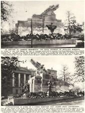 GROSVENOR PLACE. Royal Rgt artillery memorial-9 inch howitzer controversy 1926