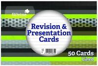 Silvine Revision and Presentation Cards Ruled Pack of 50