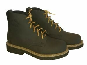 EUC Georgia Black Leather Boots G6200 Steel Toe Discontinued in 2010 Boys SZ 4M