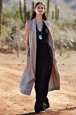 NIP $138 Anthropologie Sleeveless Linen Trench by Elevenses Sold Out Rare sz S