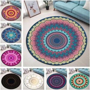 Mandala Flowers Moroccan Design Round Floor Mat Living Room Area Rugs Carpet HOT