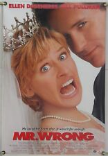 MR. WRONG DS ROLLED ORIG 1SH MOVIE POSTER ELLEN DEGENERES BILL PULLMAN (1996)