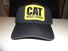 Diesel Power Cap  Caterpillar Hat blk Mesh CAT logo yellow patch