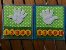 Handmade Sensory Montessori Counting Quiet Book Ks1 Learning Numbers Fingers