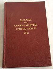 1951 Manual For Courts Martial United States Korean War Era Vintage