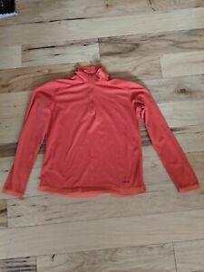 Patagonia Womens Orange Pullover Size Large Light Layer